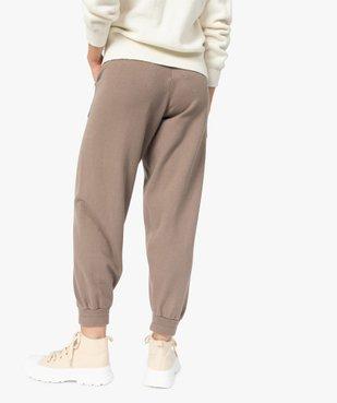 Pantalon femme en maille resserré aux chevilles vue3 - GEMO(FEMME PAP) - GEMO