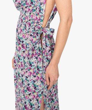 Robe de plage femme imprimée longue et échancrée  vue2 - GEMO (PLAGE) - GEMO