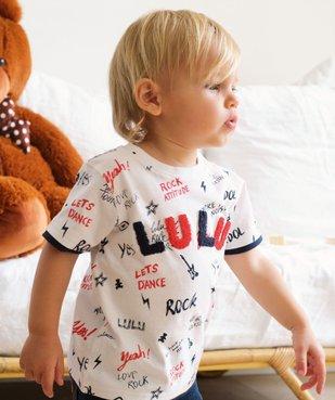 Tee-shirt bébé garçon inscriptions rock – Lulu Castagnette vue1 - LULUCASTAGNETTE - GEMO