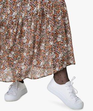 Jupe longue femme à motifs fleuris avec taille élastiquée vue2 - GEMO (G TAILLE) - GEMO