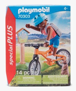 Jouet enfant Cycliste et marmotte - Playmobil vue1 - DIVERS LICENCE - GEMO