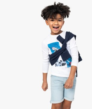 Tee-shirt garçon à motifs sportifs – Lulu Castagnette vue3 - LULUCASTAGNETTE - Nikesneakers