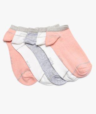 Chaussettes fille ultra courtes à paillettes (lot de 5) vue1 - GEMO (ENFANT) - GEMO