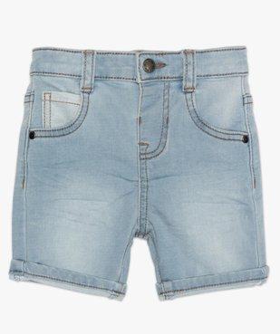 Short bébé garçon en jean extensible vue1 - GEMO(BEBE DEBT) - GEMO