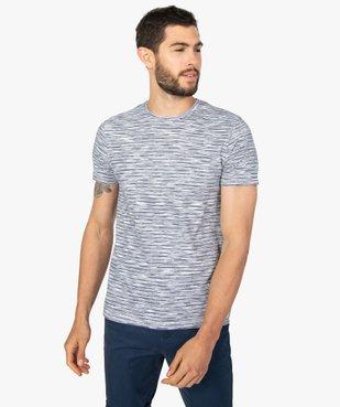 Tee-shirt homme à manches courtes et rayures vue1 - GEMO (HOMME) - GEMO