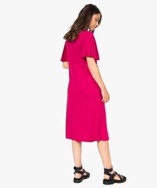 Robe de grossesse col V avec bande froncée vue3 - Nikesneakers (MATER) - Nikesneakers