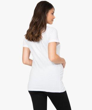 Tee-shirt de grossesse à message vue3 - GEMO (MATER) - GEMO