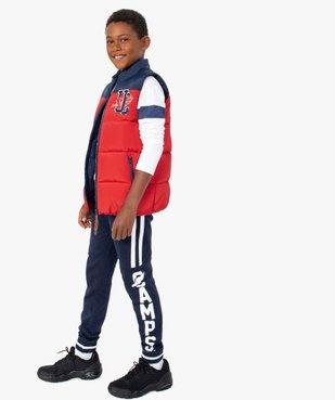 Pantalon de jogging garçon bicolore – Camps United vue5 - CAMPS UNITED - GEMO