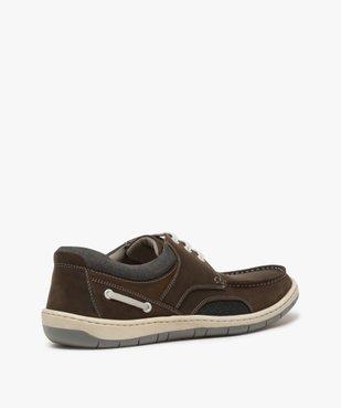 Chaussures bateau homme à lacets dessus cuir – Terre de Marins vue4 - TERRE DE MARINS - GEMO