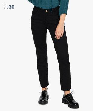 Jean femme coupe regular noir - Longueur L30 vue1 - GEMO(FEMME PAP) - GEMO
