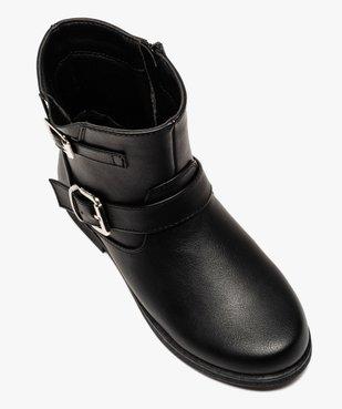 Boots fille unis avec boucles fantaisies fermeture zippée vue5 - Nikesneakers (ENFANT) - Nikesneakers