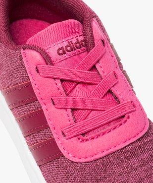 Basket fille multi-matière et lacets élastiques - Adidas vue6 - ADIDAS - GEMO