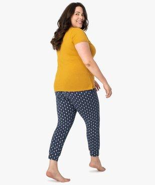 Pyjama femme avec message humoristique vue3 - GEMO(HOMWR FEM) - GEMO