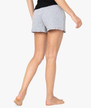 Short de pyjama femme imprimé à petits volants dans le bas vue3 - Nikesneakers(HOMWR FEM) - Nikesneakers