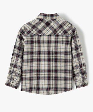 Chemise garçon à carreaux 100% coton vue3 - GEMO (ENFANT) - GEMO