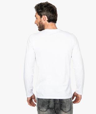 Tee-shirt homme à manches longues en coton bio vue3 - GEMO C4G HOMME - GEMO