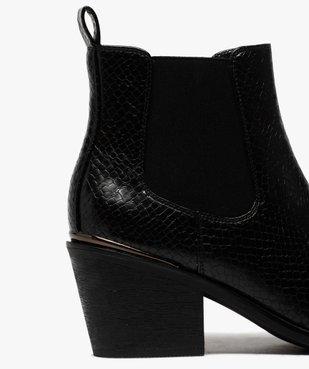 Boots femme à talon style chelsea unis vue6 - GEMO(URBAIN) - GEMO