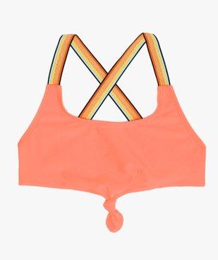 Brassière de bain fille avec nœud fantaisie et bretelles multicolores  vue1 - GEMO (JUNIOR) - GEMO