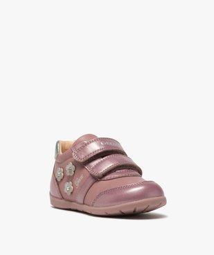 Chaussures bébé fille à scratch décor fleurs - Geox vue2 - GEOX - GEMO