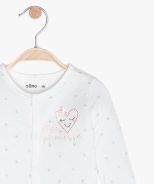 Pyjama bébé en maille piquée motif étoiles vue2 - GEMO C4G BEBE - GEMO