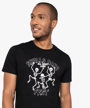 Tee-shirt homme à manches courtes et motif squelettes vue2 - GEMO (HOMME) - GEMO