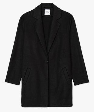 Manteau court femme en matière extensible et grand col vue4 - Nikesneakers(FEMME PAP) - Nikesneakers
