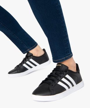 Tennis femme bicolores à lacets – Adidas Courtpoint vue1 - ADIDAS - Nikesneakers