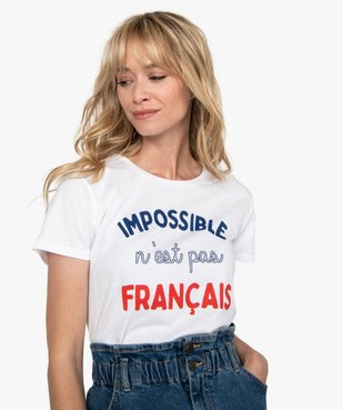 Tee-shirt femme à manches courtes imprimé football vue1 - Nikesneakers(FEMME PAP) - Nikesneakers