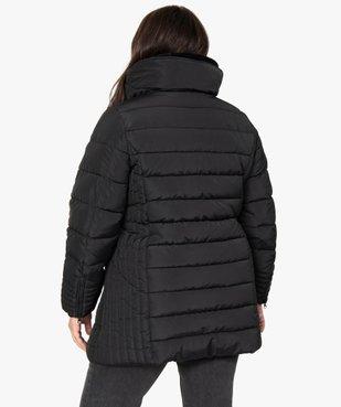 Manteau femme matelassé avec col doublé vue3 - GEMO (G TAILLE) - GEMO