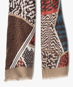 Foulard femme multicolore avec motifs abstraits vue2 - Nikesneakers (ACCESS) - Nikesneakers