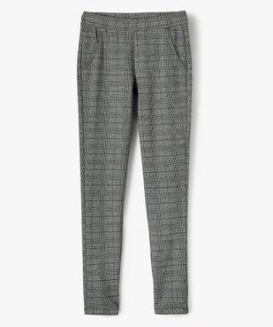 Pantalon fille en maille souple et ceinture élastiquée coupe slim vue1 - GEMO (JUNIOR) - GEMO