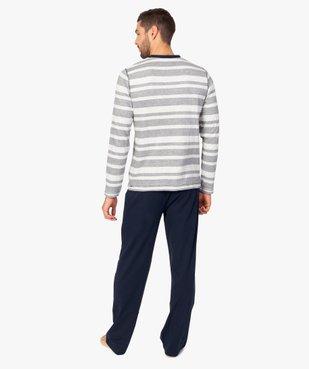 Pyjama homme 2 pièces tee-shirt et pantalon dépareillés vue3 - GEMO(HOMWR HOM) - GEMO