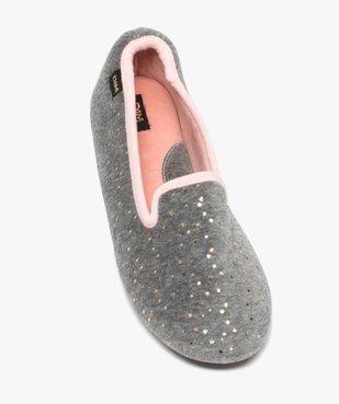 Chaussons femme slippers en velours pailleté - Dim vue5 - DIM - GEMO