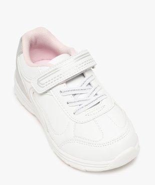 Baskets fille bicolores avec fermeture scratch vue5 - Nikesneakers (ENFANT) - Nikesneakers