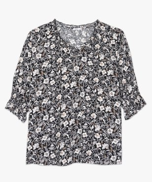 Blouse femme imprimée à manches ¾  vue4 - Nikesneakers (G TAILLE) - Nikesneakers