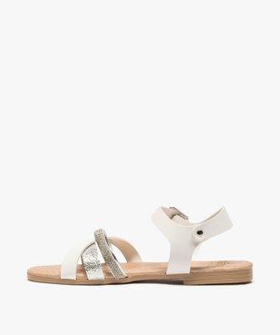 Sandales fille à brides strass et métallisées vue3 - GEMO (ENFANT) - GEMO