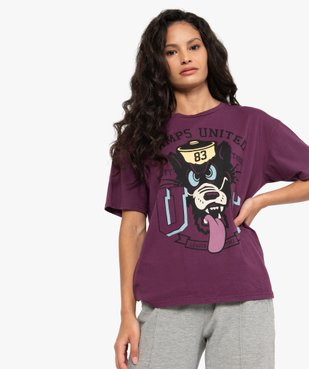 Tee-shirt femme ample à manches courtes et motif XXL - CAMPS vue1 - CAMPS UNITED - GEMO