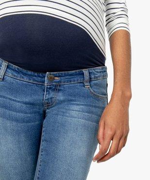 Jean de grossesse slim 4 poches avec bandeau jersey vue2 - GEMO (MATER) - GEMO