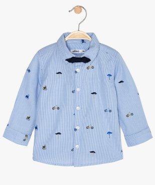 Chemise bébé garçon à rayures et motifs vue1 - GEMO(BEBE DEBT) - GEMO