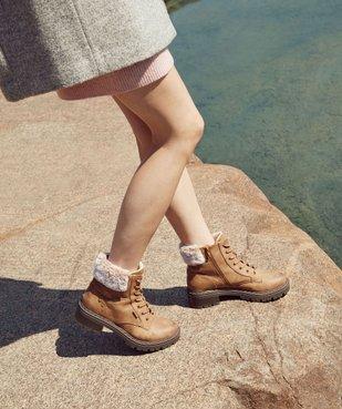 Boots fourrées femme à col rembourré et semelle crantée vue1 - GEMO (CASUAL) - GEMO