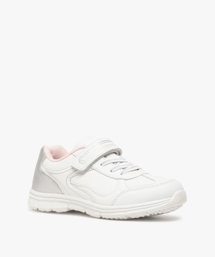 Baskets fille bicolores avec fermeture scratch vue2 - Nikesneakers (ENFANT) - Nikesneakers