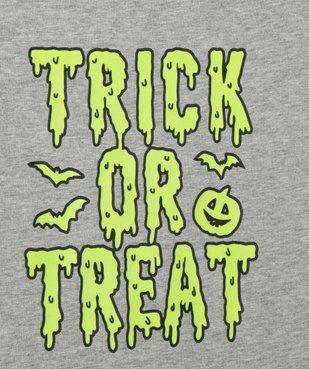 Tee-shirt garçon à manches courtes imprimé Halloween phosphorescent vue3 - Nikesneakers (ENFANT) - Nikesneakers