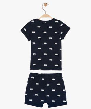 Pyjashort bébé garçon 2 pièces en coton bio vue2 - GEMO(BB COUCHE) - GEMO