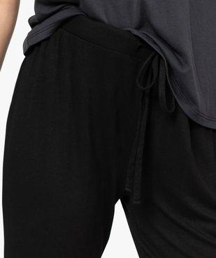 Pantalon de pyjama femme en maille fine avec bas resserré vue2 - Nikesneakers(HOMWR FEM) - Nikesneakers