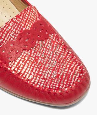 Mocassins femme confort dessus cuir souple vue6 - GEMO (CONFORT) - GEMO
