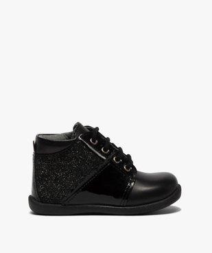 Chaussures premiers pas bébé fille en cuir détails brillants vue1 - Nikesneakers(BEBE DEBT) - Nikesneakers