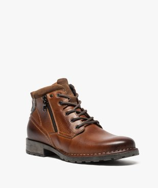 Boots homme style workwear vue2 - GEMO (CASUAL) - GEMO