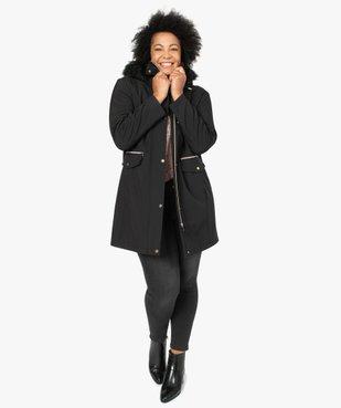 Manteau femme à capuche fantaisie et touches métalliques  vue5 - GEMO (G TAILLE) - GEMO