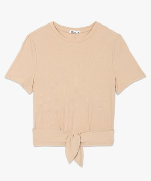 Tee-shirt femme avec lien à nouer - LuluCastagnette vue4 - LULUCASTAGNETTE - GEMO