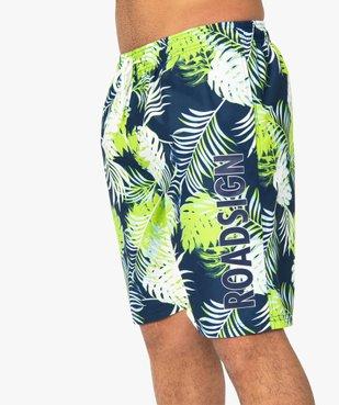 Short de bain homme motif tropical - Roadsign vue2 - ROADSIGN - GEMO